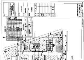 某地10000噸污水處理廠平面及高程布置圖