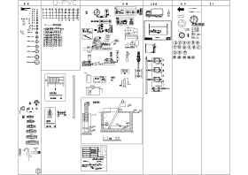 各种管件、污水处理设备、阀门及建水图例等精选图块