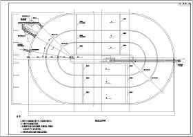 某地生活污水處理廠奧貝爾氧化溝工藝平面圖剖面圖