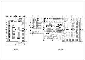 無錫兩層框架結構中餐廳室內裝修設計施工圖