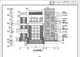 佛山某三層豪華別墅建筑、結構設計施工圖