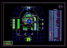 圖書館周圍及屋頂綠化設計平面圖