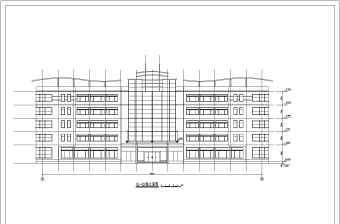 某地多层办公楼建筑设计方案图