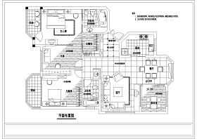 某三室两厅装修设计施工图
