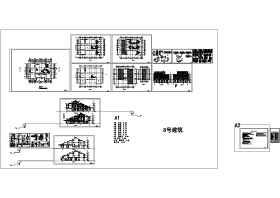 仿古建筑别墅施工图