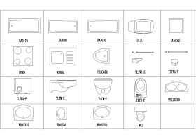 给排水工程中常用卫生洁具图块合集
