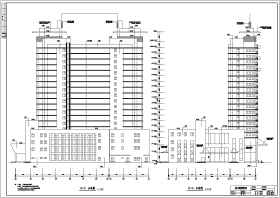 某地19层框架结构高层酒店建筑设计方案图