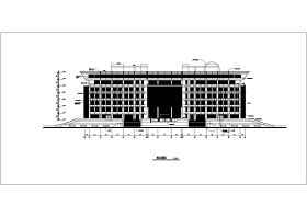 某大學8層框架結構圖書館建筑設計方案圖