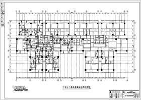 某地十八層框剪結構住宅樓結構方案圖