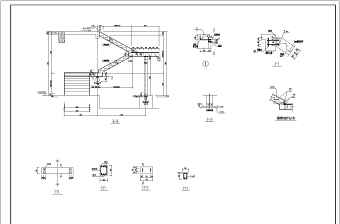 几种常见钢结构楼梯的施工大样图纸