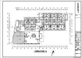 某六层酒店装修电气设计施工图(强电)