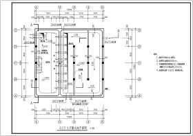 某400立方米矩形消防水池和泵房结构施工图