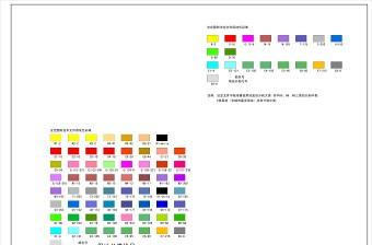 城市规划标准色标图例