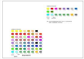 城市規劃標準色標圖例