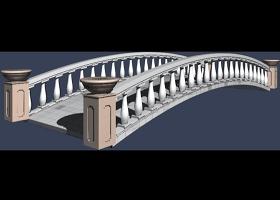 桥模型平面及3D素材