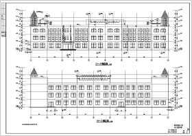 某地三層框架結構幼兒園建筑設計施工圖