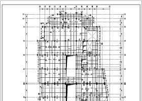 某20层框剪办公楼部分框架裙房结构cad施工图