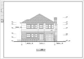 某地二層磚混結構別墅建筑結構施工圖
