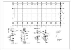 某25米跨度轻钢结构厂房设计施工图纸