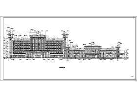 某局部七层框架结构酒店建筑设计方案图