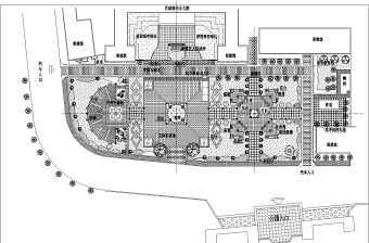 某地广场园林景观绿化施工图施工图纸