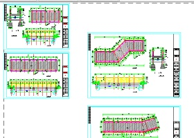 公园木桥建筑方案设计全套CAD图纸