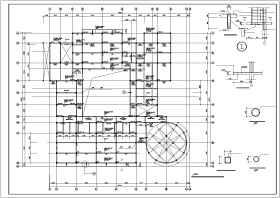 幼儿园建筑框架结构cad施工图纸