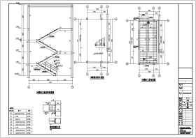 钢结构消防楼梯建筑结构设计图