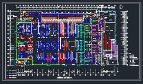 某大型超市平面设计施工CAD图纸