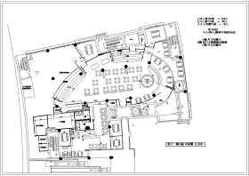 中关村餐厅装修CAD设计图