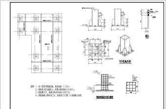 钢框架结构楼梯结构设计施工图(包括大样图)