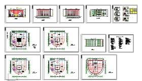 某图书馆建筑cad设计图纸(含设计说明)