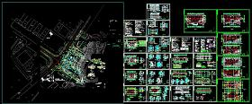高档办公楼规划及全套CAD建筑施工图纸(含设计说明)