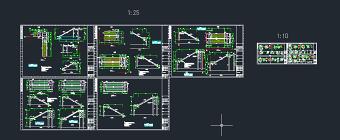 钢结构楼梯CAD图纸