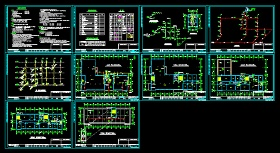 某综合办公楼给排水消防全套CAD施工设计图纸