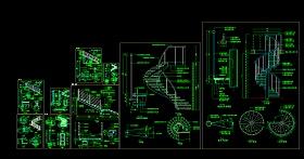 某商场楼梯扶手CAD设计施工图纸