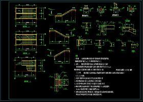 钢结构楼梯大样cad平面施工设计图