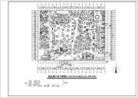 生态餐厅建筑设计CAD施工平面图