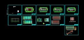 五套五层办公楼毕业设计图(含计算书、建筑图、结构图)