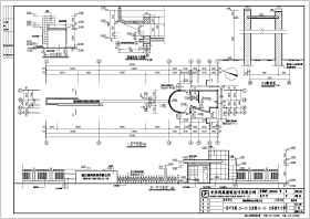 工厂大门建筑结构设计施工图