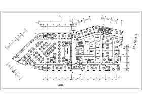 大型餐厅设计平面图