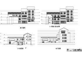 精品民宿會館建筑cad圖紙+su模型