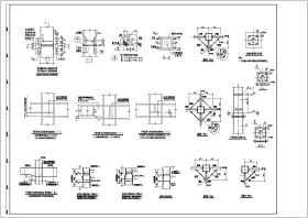 某地鋼結構焊接及螺栓連接節點圖紙