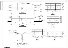 某一层框架结构餐厅设计cad建施图