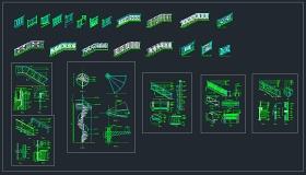 某旋转楼梯大样节点CAD设计详图