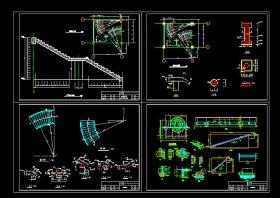 实用旋转楼梯全套cad平立面设计详细图纸
