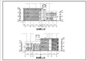 杭州市某地九班幼儿园建筑设计CAD施工图