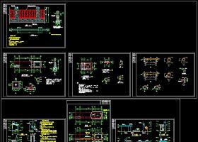 某工厂大门结构建筑cad设计施工图