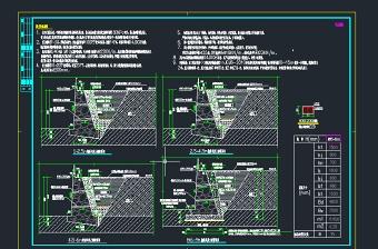 1-9m毛石挡土墙结构图CAD
