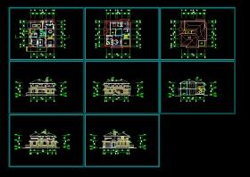 某地区某2层欧式别墅图纸带效果图